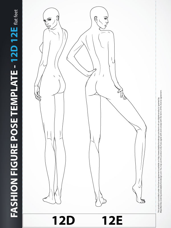 Drawing Fashion Body Template Illustration 12d12e Lady Fashion Design