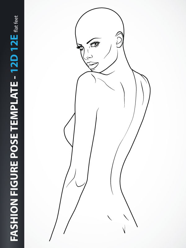 It is a graphic of Inventive Fashion Poses Drawing
