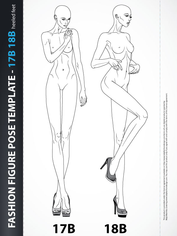 Figure Drawing Fashion Body Template Illustration 17b18b Lady Fashion Design