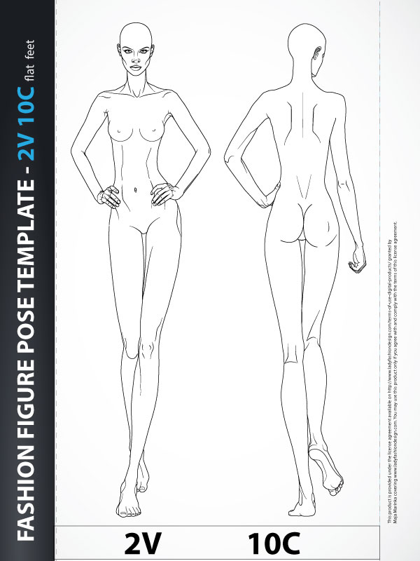Fashion Figure Fashion Design Body Template 2v10c