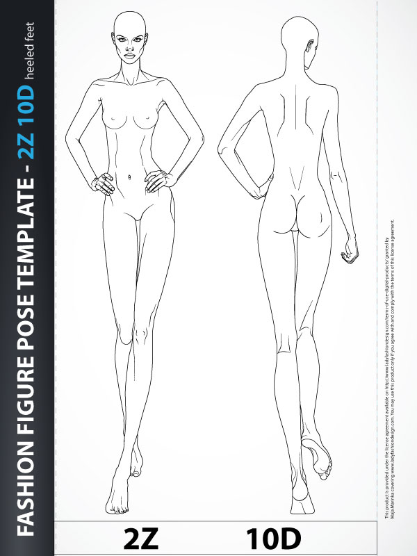 Fashion Figure Fashion Design Body Template 2z10d Catwalk Lady Fashion Design