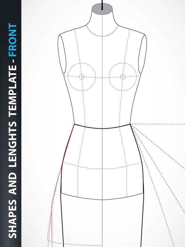 Fashion Design Skirt And Dress Drawing Template Front Lady Fashion Design
