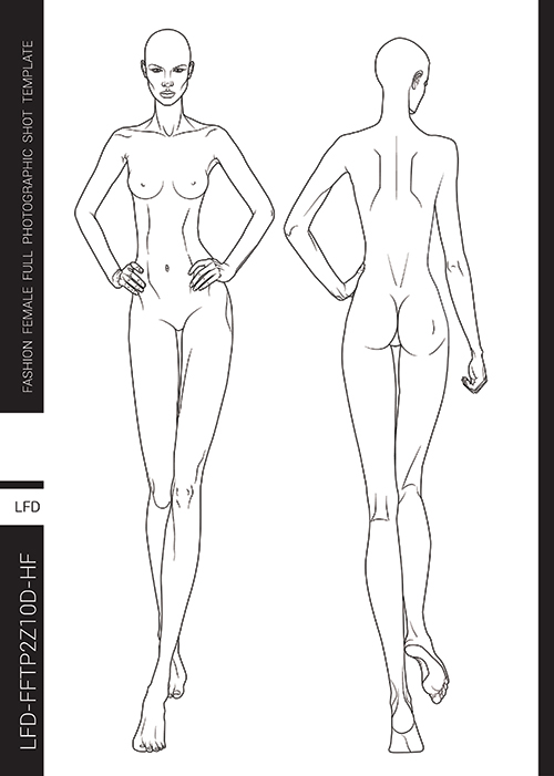 Templates For Fashion Design Pdf Book Lady Fashion Design
