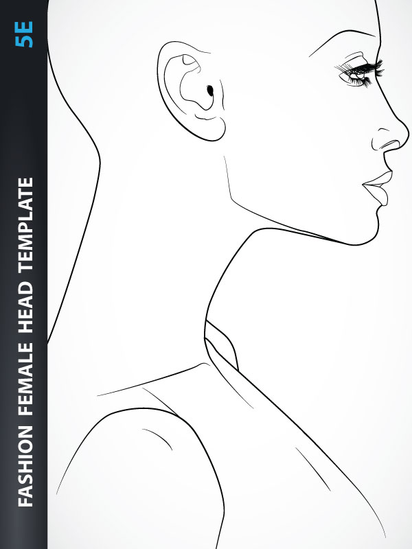 Female head fashion wall art