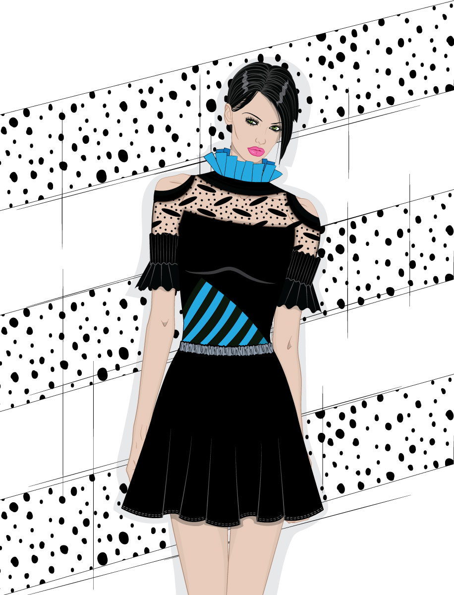 Vector art fashion girl