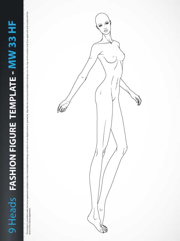 female fashion pose template