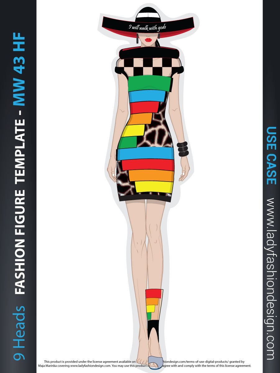Fashion illustration from MW 43 template - use case